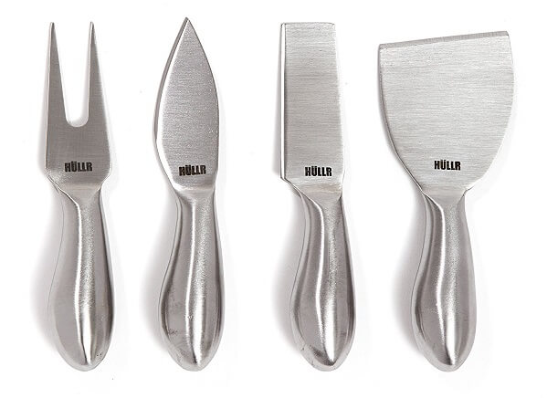 HULLR Premium 4-Piece Stainless Steel Cheese Knives Set