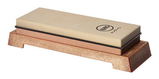 best sharpening stone product photo: KING_KW65_1000_6000_Grit_Combination_Whetstone_with_Plastic_Base