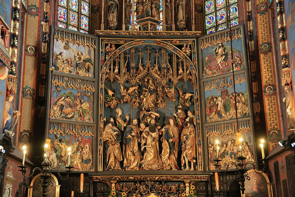 wit stwosz altar in st marys church krakow